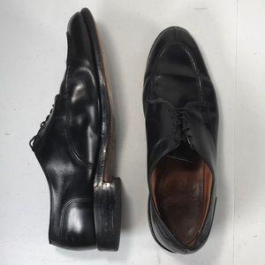 allen edmonds bradley leather split toe shoes 14 D